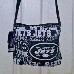NFL Canvas Tote Purse Handbag Bag NEW YORK JETS